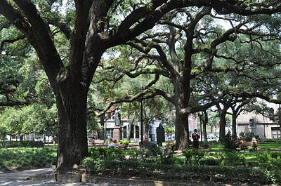 Reynolds Square In Savannah Original by Kay Mathews