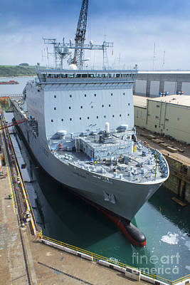 Photograph - Rfa Lyme Bay by Brian Roscorla