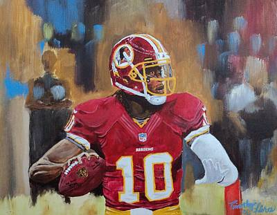 Painting - Washington Redskins Rg3 by Timothy Michaels Flores