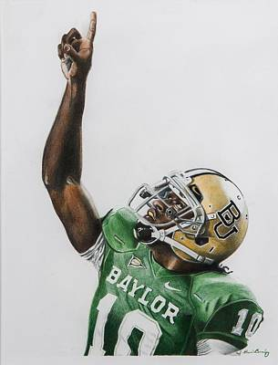 Clemson Drawing - Rgiii by Brian Broadway