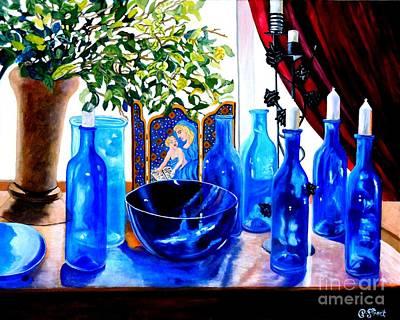 Rhapsody In Blue Art Print by Caroline Street