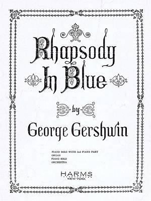 Rhapsody In Blue Art Print by Mel Thompson