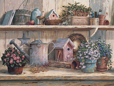 Weathered Painting - Rhapsody In Rose by Michael Humphries