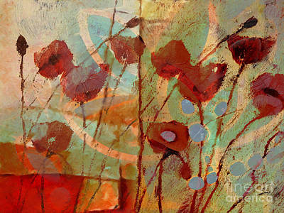 Poppies Art Painting - Rhapsody by Lutz Baar