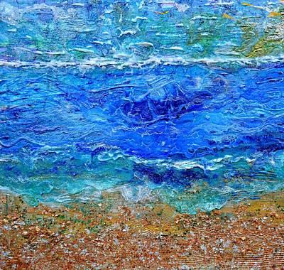 Painting - Rhapsody On The Sea Square Crop by Regina Valluzzi