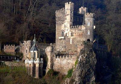 Castle Photograph - Rhein River Castle by Rebecca Davis
