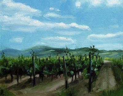 Painting - Rheingau Vineyard by Erin Rickelton