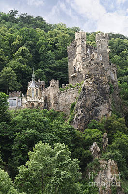 Rheinstein Castle Art Print by Oscar Gutierrez