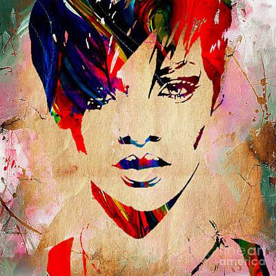 Rihanna Mixed Media - Rhianna Collection by Marvin Blaine