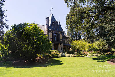 Rhine House At Beringer Winery St Helena Napa California Dsc1722 Art Print by Wingsdomain Art and Photography