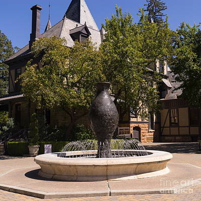 Rhine House At Beringer Winery St Helena Napa California Dsc1728 Square Art Print by Wingsdomain Art and Photography