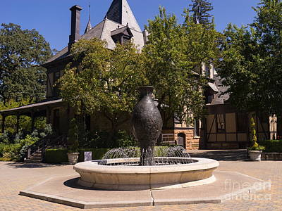 Rhine House At Beringer Winery St Helena Napa California Dsc1728 Art Print by Wingsdomain Art and Photography