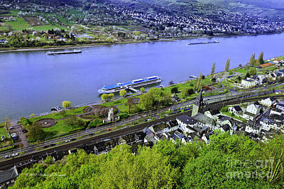 Photograph - Rhine River Cruise Europe by Richard J Thompson