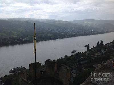 Photograph - Rhine River View From Marksburg Castle by John Potts