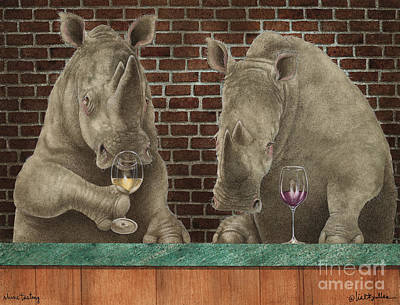 Wine Tasting Painting - Rhine Tasting... by Will Bullas