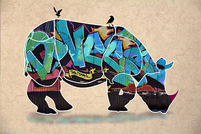 Humor Digital Art - Rhino 2 by Mark Ashkenazi