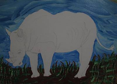 Painting - Rhino by Barbara Yearty