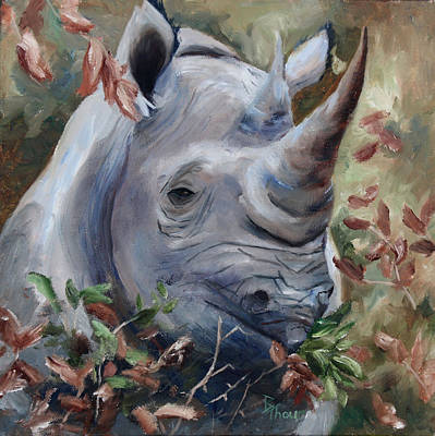 Painting - Rhino by Brenda Thour