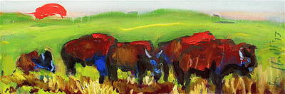 Painting - Rhino Buffalo by Les Leffingwell