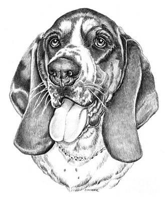 Puppy Drawing - Rhino by Catherine Garneau