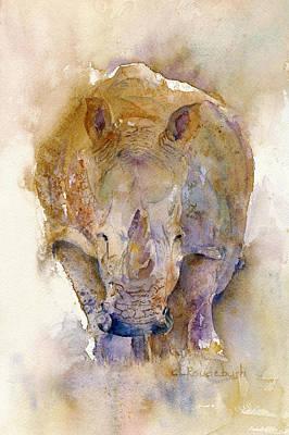 Painting - Rhino by Cynthia Roudebush