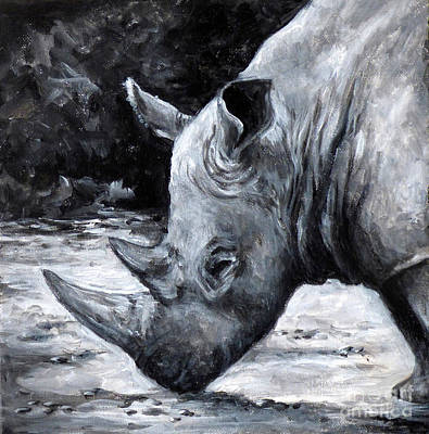 Painting - Rhino by Deborah Smith