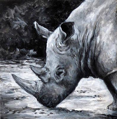 Painting - Rhino by Deborah Smith