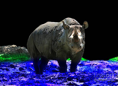 Digital Art - Rhino by E B Schmidt
