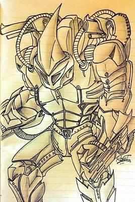 Spider Man Drawing - Rhino In Marvel Comics by Rohit Bhattacharya