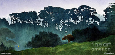 Golf Wall Art - Painting - Rhino In The Rough... by Will Bullas
