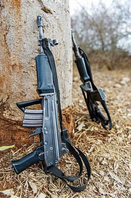 Rhino Security Patrol Guns Art Print