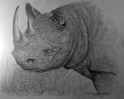 Rhinoceras Art Print by Jim Hubbard