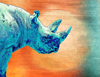 Painting - Rhinocorn by Rick Mosher