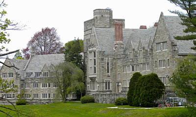 Quaker Photograph - Rhoads Hall Bryn Mawr College by Georgia Fowler