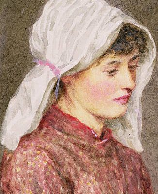 Shawl Painting - Rhoda by Helen Allingham