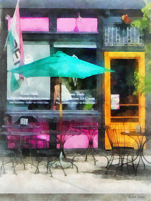 Rhode Island - Homemade Ice Cream Bristol Ri Art Print by Susan Savad