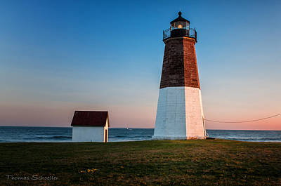 Photograph - Rhode Island Lighthouse-point Judith by Expressive Landscapes Fine Art Photography by Thom