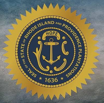 Plantations Digital Art - Rhode Island State Seal by Movie Poster Prints