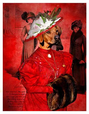 Rhodesian Ridgeback Dog Portraits Painting - Rhodesian Ridgeback Art Canvas Print  by Sandra Sij
