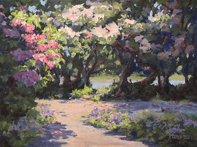 Painting - Rhodies In The Sun by Karen Ilari
