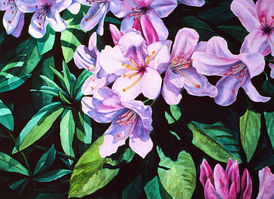 Painting - Rhodies by Lynda Hoffman-Snodgrass