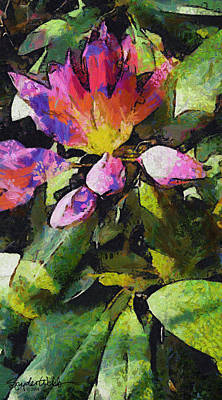 Rhododendron Explosion Art Print