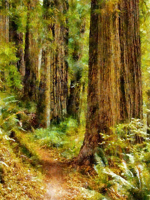 Digital Art - Rhododendron Trail by Kaylee Mason