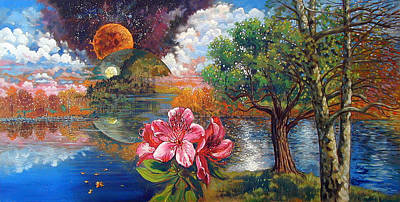 Painting - Rhododendron's Creation by John Lautermilch