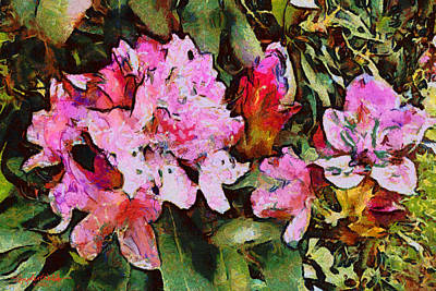 Rhododendrons One Art Print by Spyder Webb