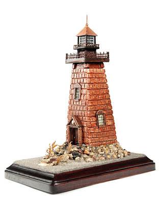 Rhody Lighthouse Art Print by Seaside Artistry
