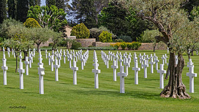 Photograph - Rhone American Cemetery by Allen Sheffield