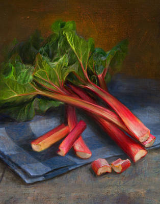 Vegetables Wall Art - Painting - Rhubarb by Robert Papp
