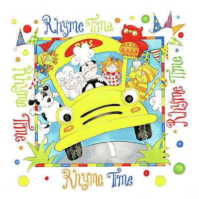 Nursery Rhyme Painting - Rhyme Time by P.s. Art Studios