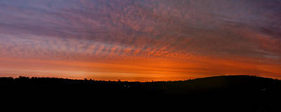Abstract Animalia - Rhymney Valley Sunrise Panorama by Steve Purnell